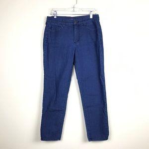 NYDJ Dark Wash Straight Leg Embellished Jeans 10